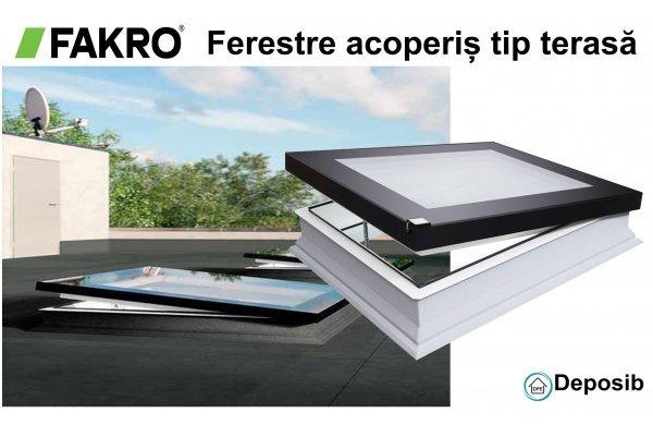 Ferestre pentru acoperiș tip terasă Fakro