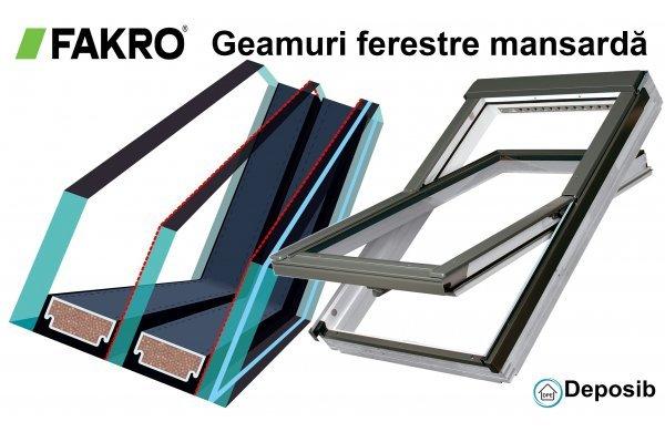 Geamuri utilizate la ferestrele de mansardă Fakro
