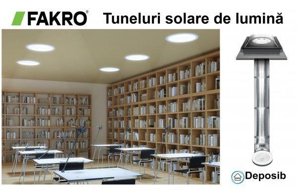 Tunelurile solare de lumină cu tub Fakro