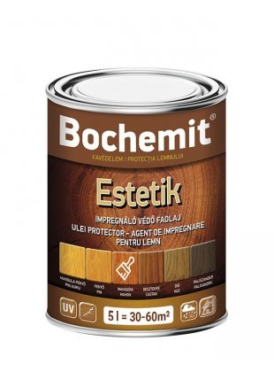 Ulei protector lemn Bochemit Estetik Alb 5L