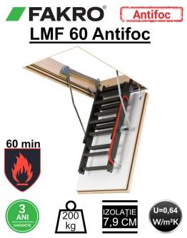 Scara pod rezistenta la foc 60 min Fakro LMF