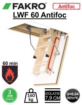 Scara pod rezistenta la foc 60 min Fakro LWF
