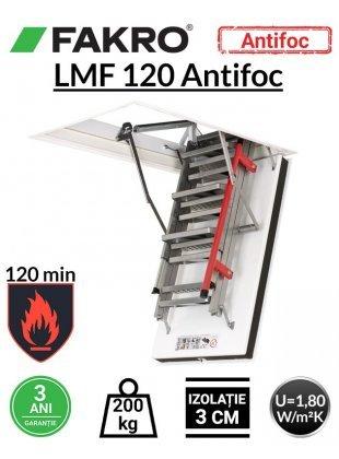 Scara pod rezistenta la foc 120 min Fakro LMF