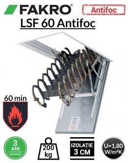 Scara pod rezistenta la foc 60 min Fakro LSF