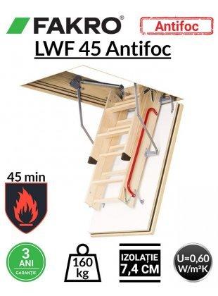 Scara pod rezistenta la foc 45 min Fakro LWF