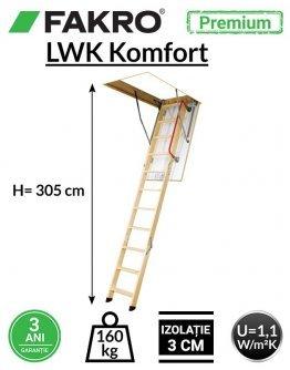 Scara pod Fakro LWK Komfort H305 cm