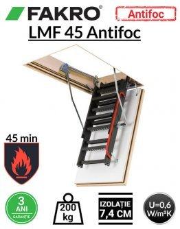 Scara pod rezistenta la foc 45 min Fakro LMF