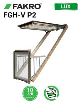 Fereastra mansarda balcon Fakro FGH-V P2 Galeria cu rama inclusa