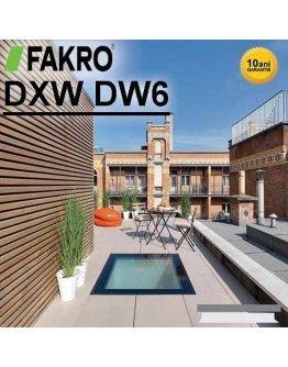 Fereastra circulabila acoperis terasa Fakro DXW DW6