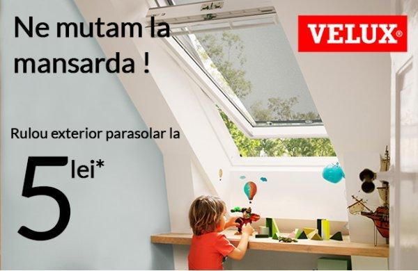 "Campanie Velux ""Ne mutam la mansarda"" iunie-iulie 2020"
