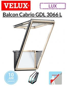Balcon Velux Cabrio pentru mansarda GDL 3066L 114x252cm- Argon