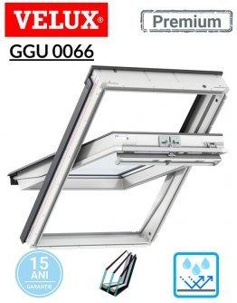 Fereastra de mansarda poliuretan Velux GGU 0066 Premium - maner sus- Kripton