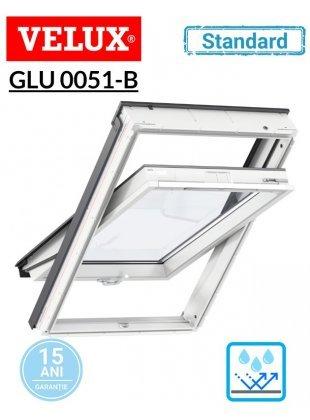 Fereastra de mansarda poliuretan Velux GLU 0051 B Standard - maner jos
