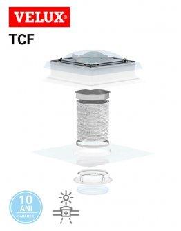 Tunel solar de lumina flexibil pentru acoperis tip terasa Velux TCF