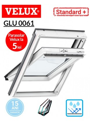 Fereastra de mansarda poliuretan Velux GLU 0061 Standard Plus- maner sus