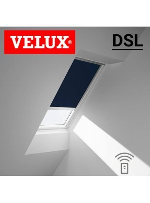 Rulou interior opac Velux DSL cu actionare electrica -motor solar