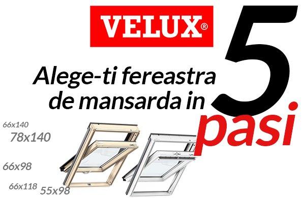 Alege o fereastra de mansarda Velux in 5 pasi